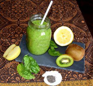 zumo de kiwi y manzana